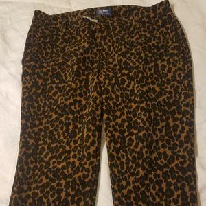 Leopard crop slacks